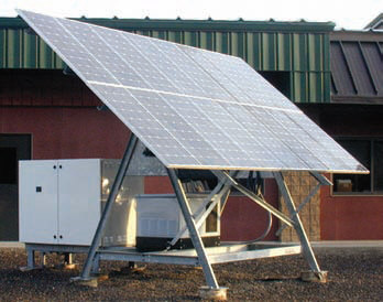 Solar Power Station for Off-Grid Remote Power Photovoltaic System
